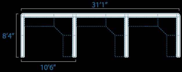 10x8 3 Cube