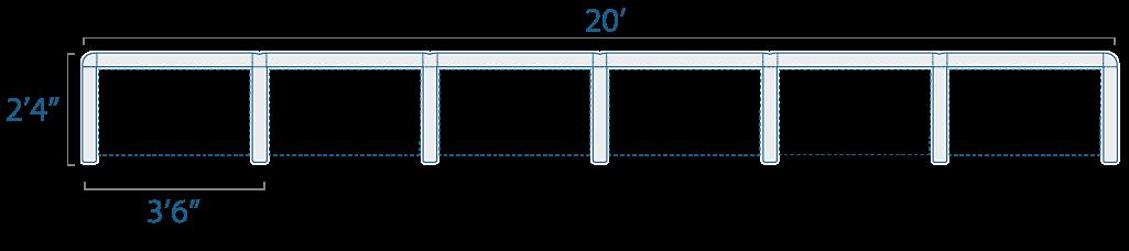 3x2 6 Cubes