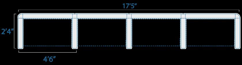 4x2 4 Cubes