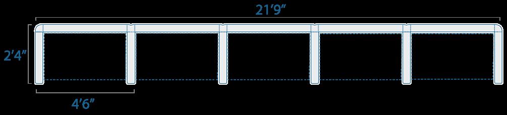 4x2 5 Cubes