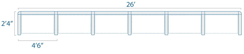 4x2 6 Cubes