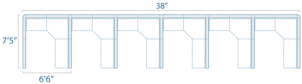 6x7 6 Cubes