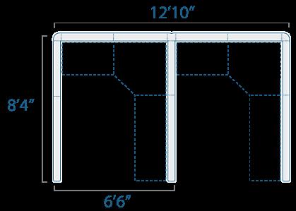 6x8 2 Cubes
