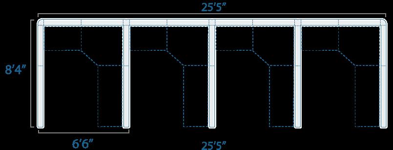 6x8 4 Cube