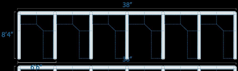 6x8 6 Cubes