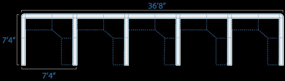 7x7 5 Cubes