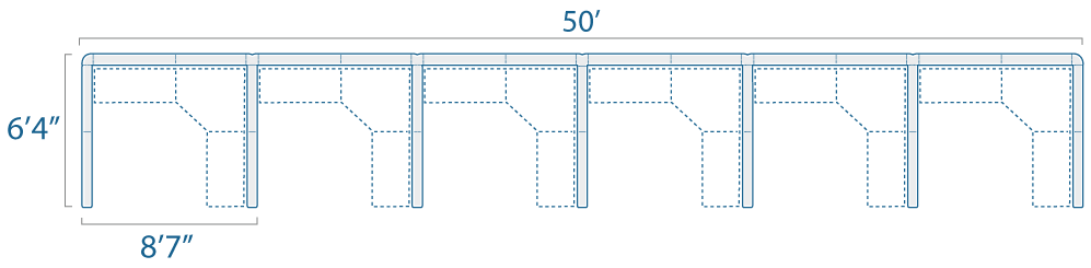 8x6 6 Cubes