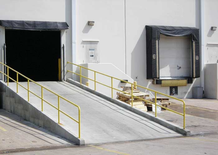 Our standard shipping services includes delivery to a commercial loading dock.