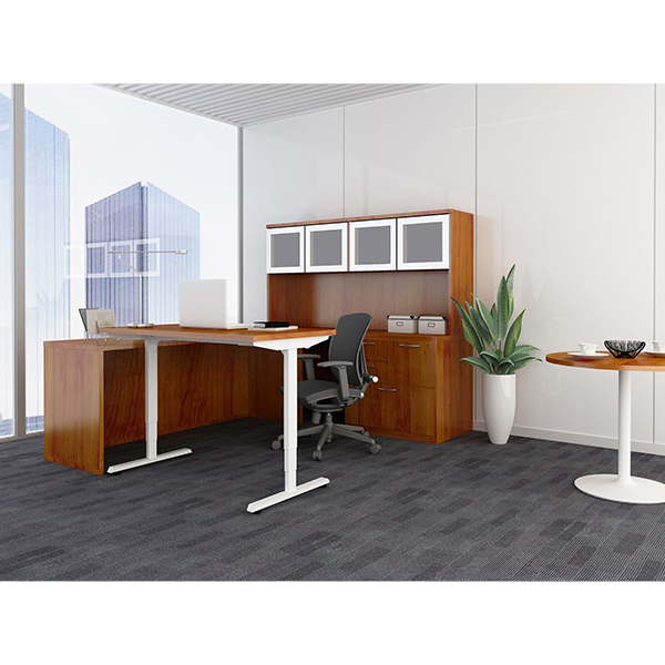 Adjustable Height Tables - The Hi-Lo sit-stand desk from Fastcubes turns your current workstation into a sit-stand desk that is height-adjustable. With a lifting capacity of up to 350 pounds, this sit-stand desk fits into any environment.