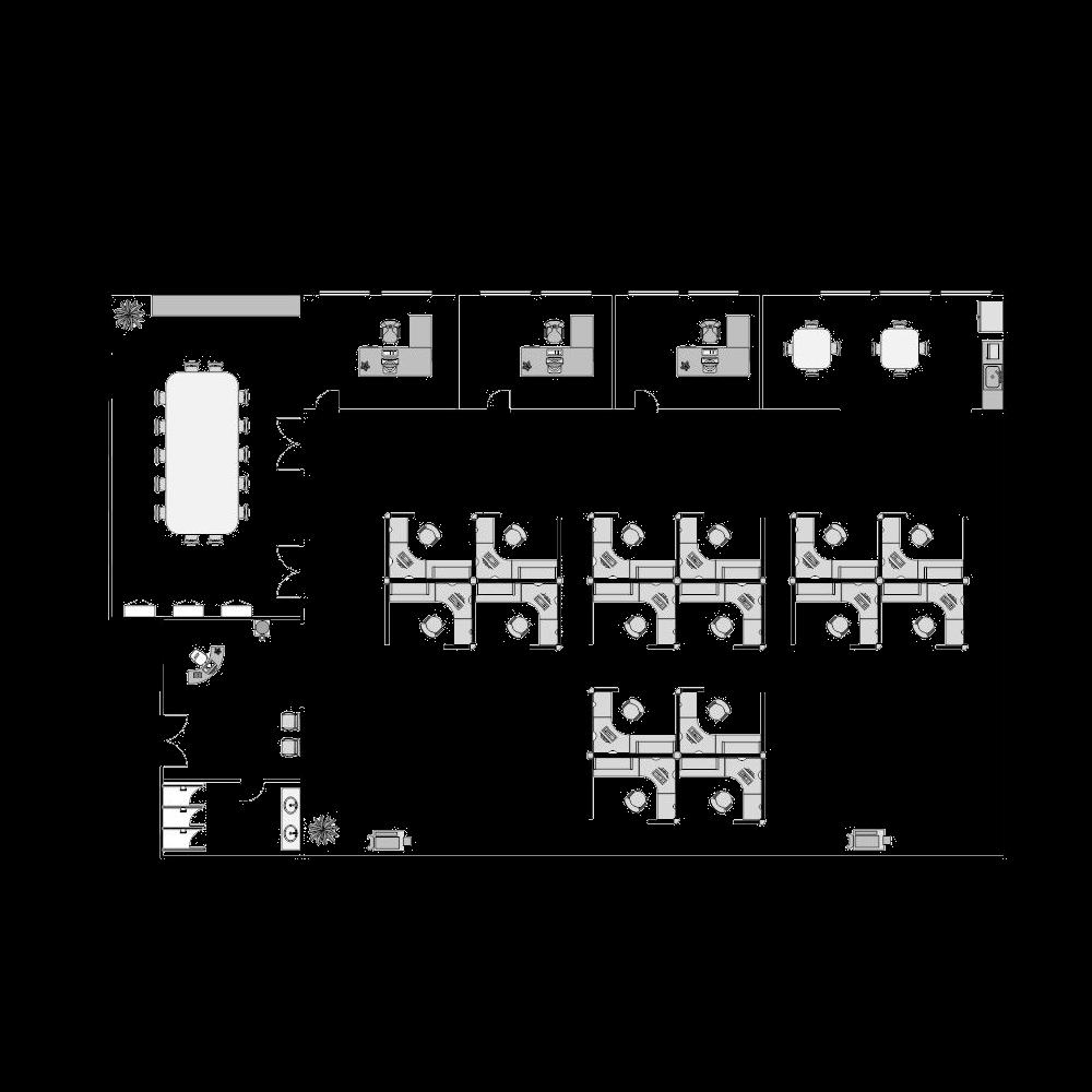 cubicle free layout